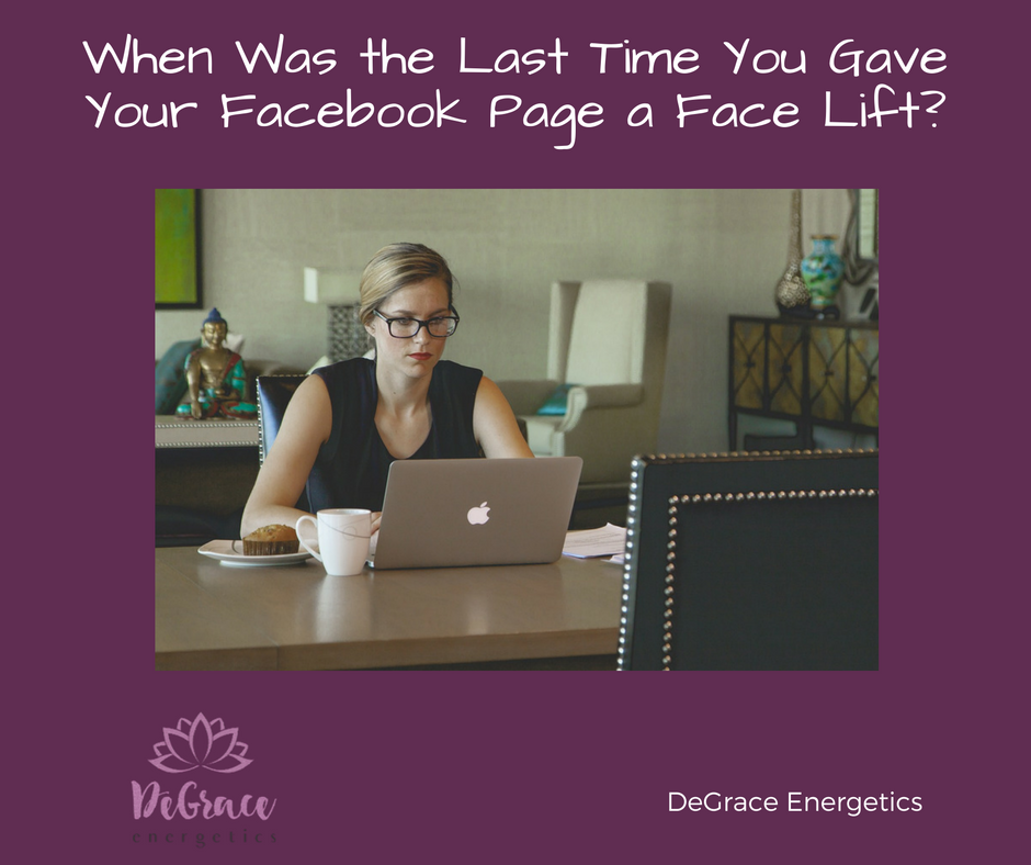 Facebook Face Lift DeGrace Energetics Blog Post