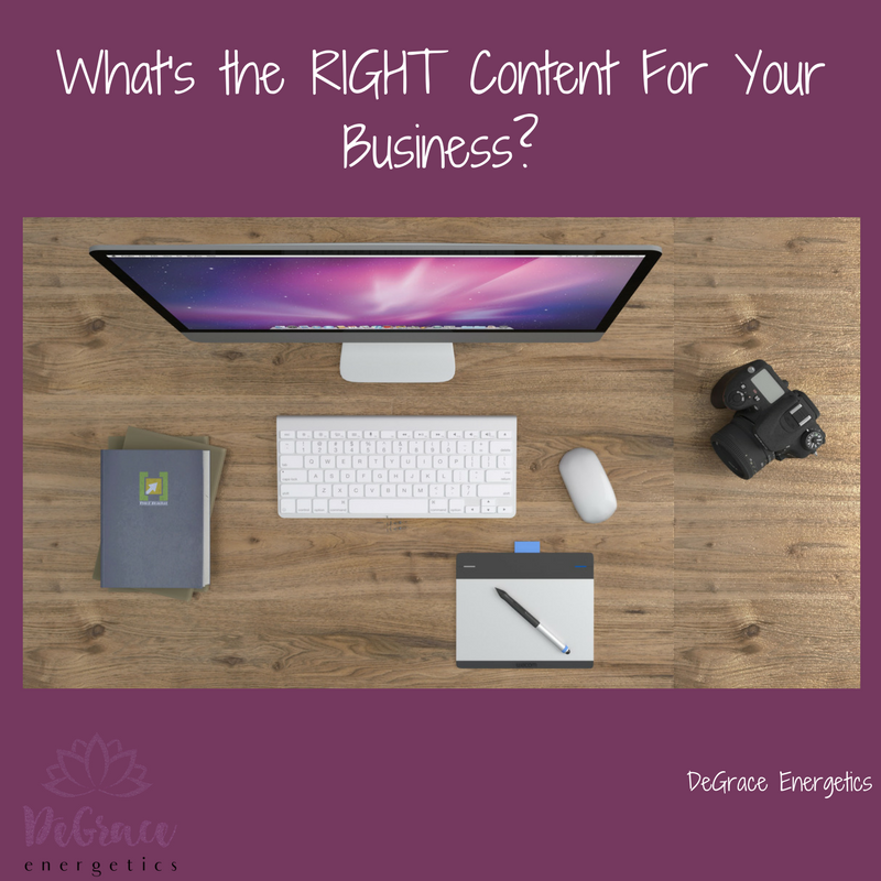 What's the RIGHT Content for Your Business?
